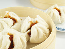 Tasty BBQ Pork Buns Stock Photo