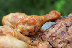 Tasty bbq smocked chicken drumsticks Royalty Free Stock Photography