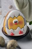 Tasty beautiful easter gingerbread cookies on a white wooden surface. Holiday bright Easter. Preparing for a religious holiday.  stock images