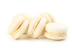 Tasty beige macarons Royalty Free Stock Photography