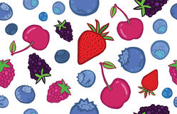 Tasty Berries Seamless Pattern Royalty Free Stock Photography