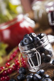Tasty berry and fruit jam and berry Stock Photography