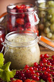Tasty berry and fruit jam and berry Royalty Free Stock Photo