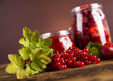 Tasty berry and fruit jam and berry Stock Image