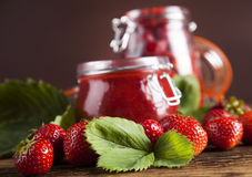 Tasty berry and fruit jam and berry Royalty Free Stock Image