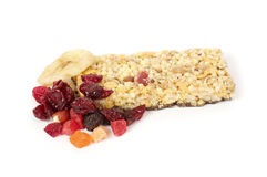 Tasty berry and musli bars. Stock Image