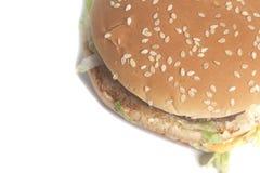 Tasty Big burger. Isolated on a white background stock photo