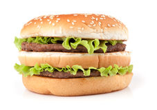 Tasty big hamburger Stock Photography