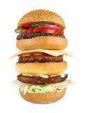 Tasty big hamburger isolated at white background Stock Image