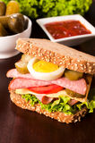 Tasty big sandwich Stock Photos