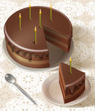 Tasty birthday cake Royalty Free Stock Photography