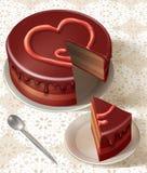 Tasty birthday cake Stock Photo