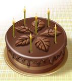 Tasty birthday cake Stock Photos