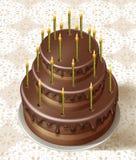 Tasty birthday cake Royalty Free Stock Photo