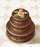 Tasty birthday cake Royalty Free Stock Image
