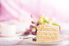 Tasty biscuit cake Royalty Free Stock Images
