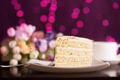 Tasty biscuit cake Stock Photo