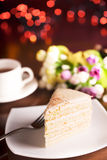 Tasty biscuit cake Royalty Free Stock Image