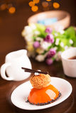 Tasty biscuit cake with jelly Royalty Free Stock Photos