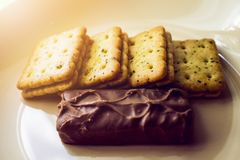 Tasty Biscuit, Cookies on Plate, Dessert Food, Snack Food. Fresh or Healthy Snack is Good Food for Human Life, They are giving us some nutrition for our body stock image