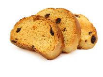 A tasty biscuit with raisins Royalty Free Stock Photography