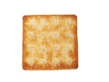 Tasty Biscuit Texture Closeup Details Isolated On White background Royalty Free Stock Photo