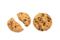 Tasty biscuits with chocolate Stock Photos
