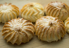 Tasty biscuits with sugar Royalty Free Stock Images
