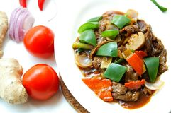 Tasty Black Pepper Beef Royalty Free Stock Images
