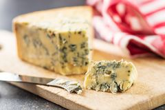 Tasty blue cheese. Royalty Free Stock Images