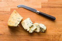 Tasty blue cheese. Royalty Free Stock Photo