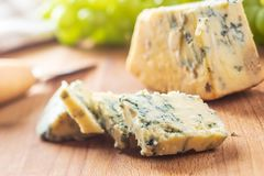 Tasty blue cheese. Stock Photo