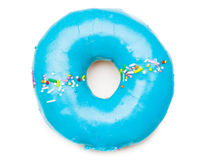 Tasty blue donut Royalty Free Stock Photos