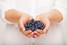 Tasty Blueberries for You Stock Photo