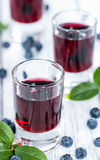 Tasty Blueberry Liqueur Royalty Free Stock Photography