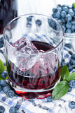 Tasty Blueberry Liqueur Royalty Free Stock Image