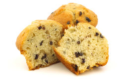 Tasty blueberry muffin and a cut one Royalty Free Stock Photo