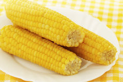 Tasty boiled corn Royalty Free Stock Images
