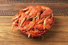 Tasty boiled fresh crayfishes Royalty Free Stock Images