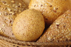 Tasty bread with basket Royalty Free Stock Photography