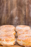 Tasty Breakfast Donuts In A Row Stock Images