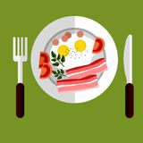 Tasty breakfast of eggs and bacon Royalty Free Stock Photography