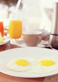 Tasty breakfast in the morning with eggs Stock Image