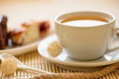 Tasty breakfast tea and cakes Stock Photos