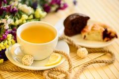 Tasty breakfast tea and cakes Royalty Free Stock Image
