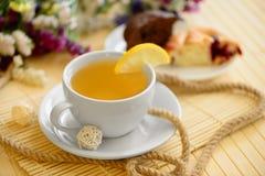 Tasty breakfast tea and cakes Royalty Free Stock Photos