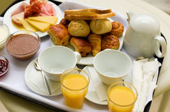 Tasty breakfast for two Royalty Free Stock Images