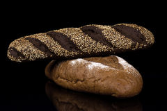Tasty brown bread. Tasty bread extralarge Stock Image Stock Images