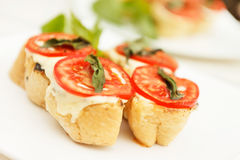 Tasty bruschetta Stock Photo