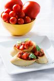 Tasty bruschetta Stock Image